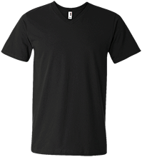 Custom Company Logo Men's Printed V-Neck T