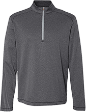Aids Research Adidas Men's Terry Heather 1/4 Zip