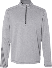 Malverne High School Adidas Men's Terry Heather 1/4 Zip