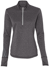 Car Wash Adidas Ladies Terry Heather 1/4 Zip