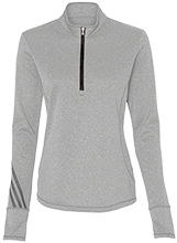 Malverne High School Adidas Ladies Terry Heather 1/4 Zip