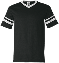 West Lawn Elementary School Mustangs V-Neck Sleeve Stripe Jersey