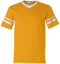 Prairie High School Mustangs V-Neck Sleeve Stripe Jersey