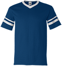 Yarmouth High School Clippers V-Neck Sleeve Stripe Jersey