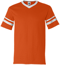 Parkview Elementary School White Bears V-Neck Sleeve Stripe Jersey