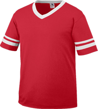 Creston Middle School Bobcats V-Neck Sleeve Stripe Jersey