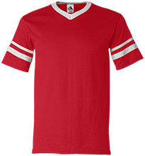 Clinton Valley Elementary School Cardinals V-Neck Sleeve Stripe Jersey