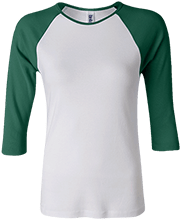Cardinal Gibbons High School Crusaders Junior 100% Cotton 3/4 Sleeve Baseball T