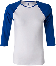 Lincolnview Marsh Middle School Lancers Junior 100% Cotton 3/4 Sleeve Baseball T