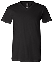 Custom Company Logo  Bella + Canvas Unisex Jersey SS V-Neck T-Shirt