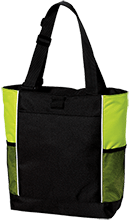Soccer Personalized Colorblock Zipper Top Tote Bag