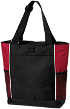 Beauvoir Elementary Indians Personalized Colorblock Zipper Top Tote Bag