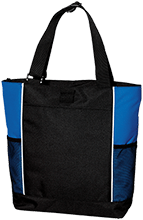 Greenport Elementary School Bluehawks Personalized Colorblock Zipper Top Tote Bag