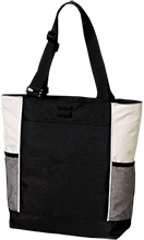 Bristol Bay Angels Personalized Colorblock Zipper Top Tote Bag