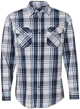 Shelby Junior High Wildcats Long Sleeve Plaid Shirt