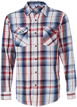 Conner Junior High School Owls Long Sleeve Plaid Shirt