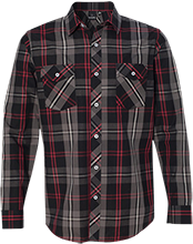 Baby Shower Long Sleeve Plaid Shirt