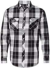 Milnor High School Bison Long Sleeve Plaid Shirt