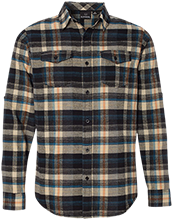 Devonshire Elementary School Dolphins Long Sleeve Plaid Flannel Shirt