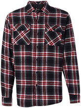Shaw High School Cardinals Long Sleeve Plaid Flannel Shirt