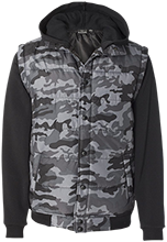 Ellicott Mills Middle School Eagles Nylon Vest with Fleece Sleeves