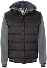 East Laurinburg School Mustangs Nylon Vest with Fleece Sleeves