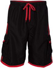 Ezekiel Academy Knights Swim Striped Board Shorts