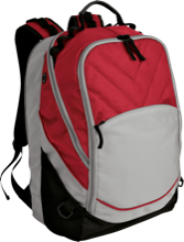 Calvary Christian School Flames Embroidered Laptop Computer Backpack
