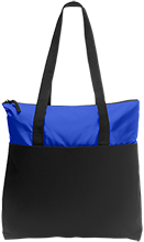 Maroa-Forsyth High School Trojans Zip Top Tote