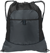 Central School Green Waves Pocket Cinch Pack
