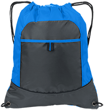 MenRiv Park Elementary School Dolphins Pocket Cinch Pack