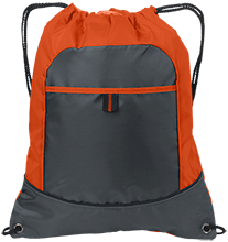 Universty Christian School Flames Pocket Cinch Pack