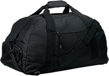 MenRiv Park Elementary School Dolphins Basic Large-Sized Duffel Bag