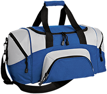 Lincoln Elementary School Wildcats Small Colorblock Sport Duffel Bag