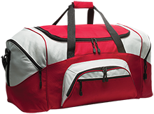 Mechanicville High School Red Raiders Colorblock Sport Duffel