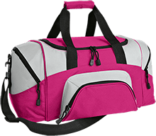 Breast Cancer Colorblock Sport Duffel