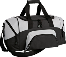 A E Oblock Junior High Broncos Small Colorblock Sport Duffel Bag