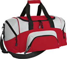 Mechanicville High School Red Raiders Small Colorblock Sport Duffel Bag