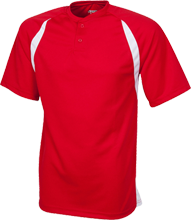 Clinton Valley Elementary School Cardinals Color-Contrast Polyester 2 Button Jersey