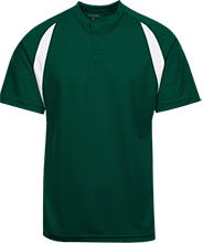 Baseball Color-Contrast Polyester 2 Button Jersey