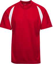 North Sunflower Athletics Color-Contrast Polyester 2 Button Jersey