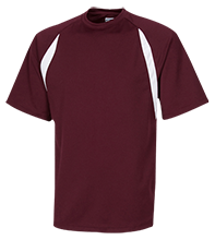 Berry Intermediate Warriors Performance Dual-Colored T-Shirt Jersey