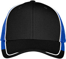 East Burke Middle School Raiders Colorblock Mesh Back Cap