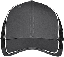 DESIGN YOURS Colorblock Mesh Back Cap