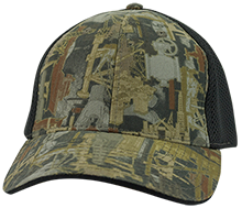 Downing School Lions Camo Cap with Mesh