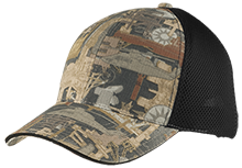 Liberty Middle School Lions Camo Cap with Mesh