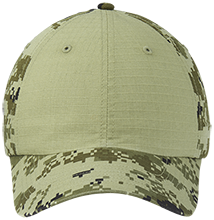 Coe College School Colorblock Digital Camouflage Cap