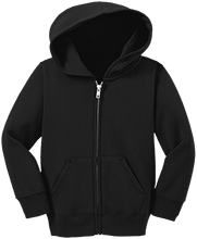 Roosevelt Sixth Grade School Falcons Toddler Full Zip Hoodie