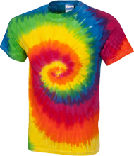 L H Rather Junior High School Indians Youth Tie Dye T-shirt