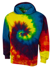 Berry Academy High School Cardinal Unisex Tie-Dyed Pullover Hoodie with Front Pocket